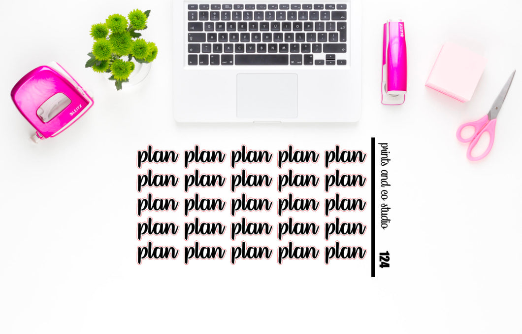 plan script planner stickers (S124)