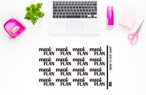 meal plan script planner stickers (S120)