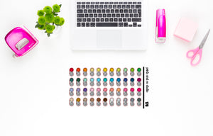 contact lens case planner stickers (S176)