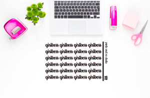girl boss script planner stickers (S172)