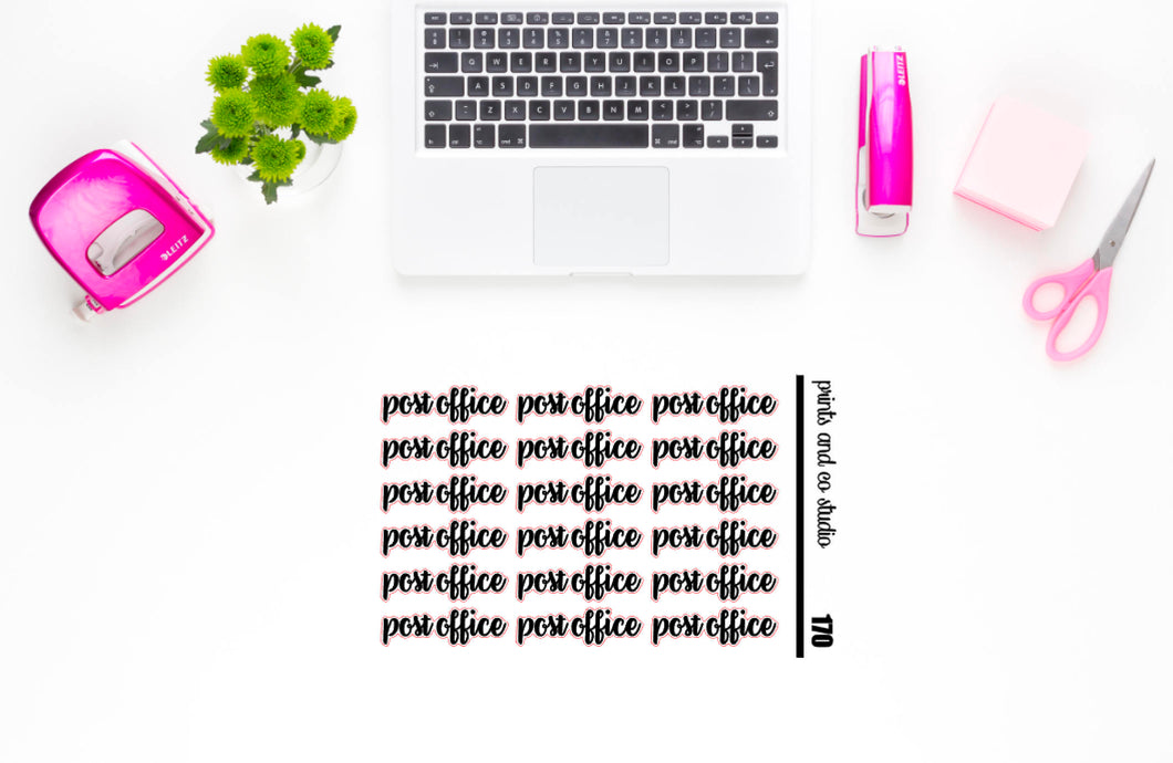 post office script planner stickers (S170)