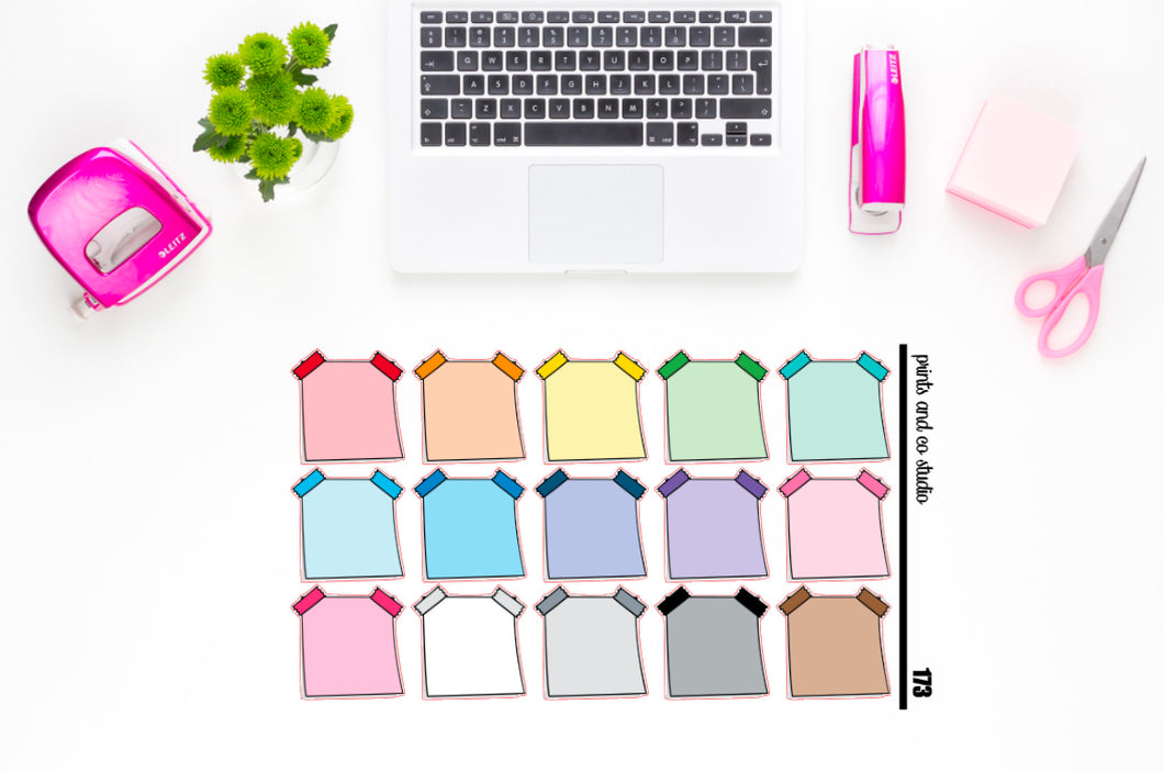 double tape post it note planner stickers (S173)