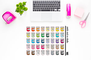 rx bottles planner stickers (S142)