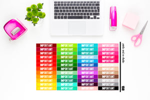 important headers planner stickers (S150)