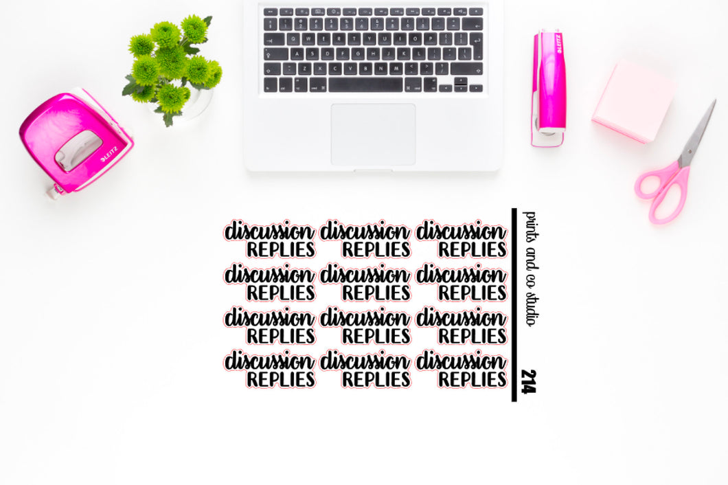 discussion replies script planner stickers (S214)