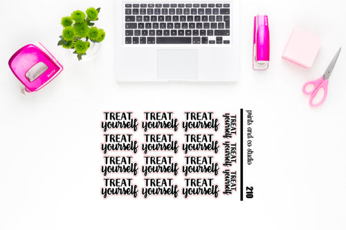 treat yourself script planner stickers (S210)