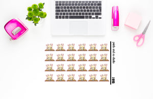 Jeff at school planner stickers (J015)