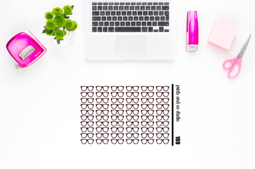 glasses planner stickers (S169)