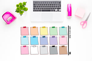 single tape post it note planner stickers (S174)