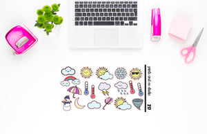 multi weather planner stickers (S217)