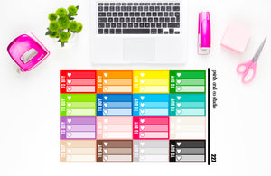 ombre triple heart to buy checklist planner stickers (S227)