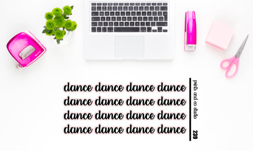 dance script planner stickers (S239)