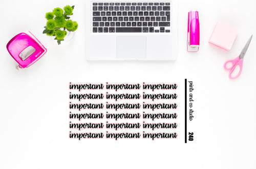 important script planner stickers (S240)