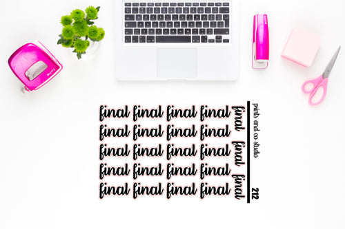 final script planner stickers (S212)