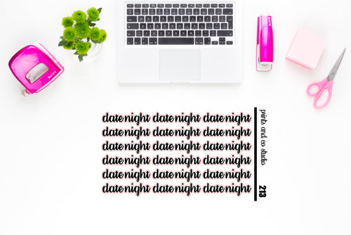 date night script planner stickers (S213)