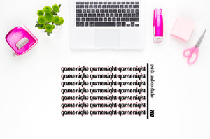 game night script planner stickers (S207)