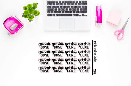 get shit done script planner stickers (S208)