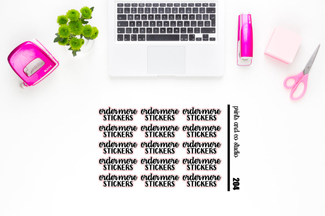 order more stickers script planner stickers (S204)