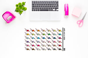 lawn mowers planner stickers (S221)