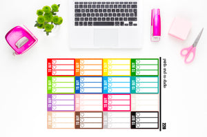 white triple heart to buy checklist planner stickers (S228)
