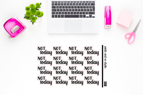 not today script planner sticker (S233)