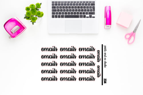 emails script planner stickers (S234)