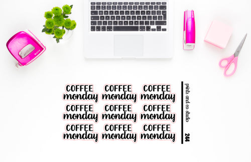 coffee monday script planner stickers (S244)