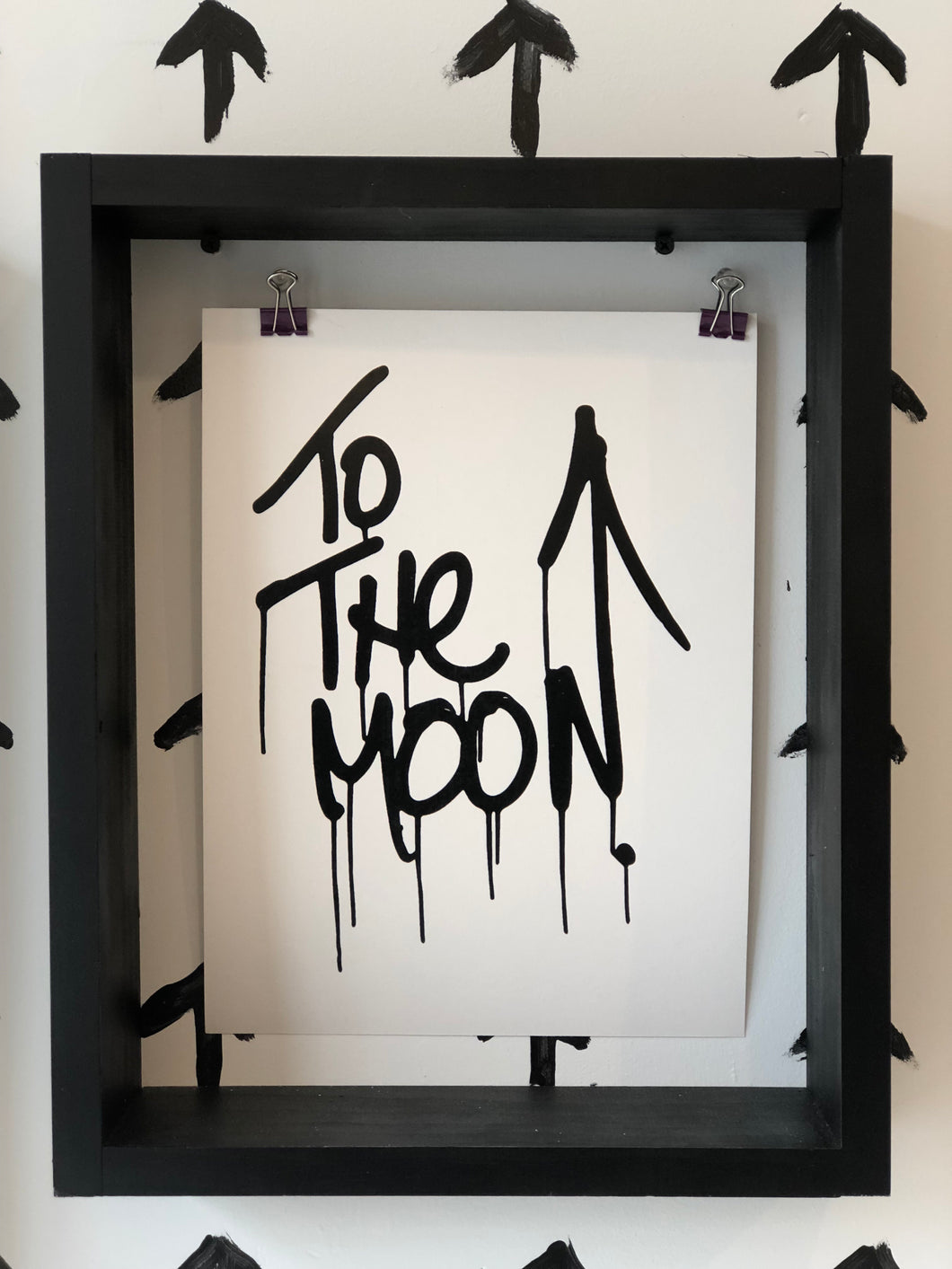Krink marker To The Moon print on paper 9