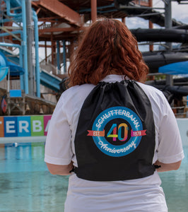 Schlitterbahn 40th Anniversary Draw String Backpack