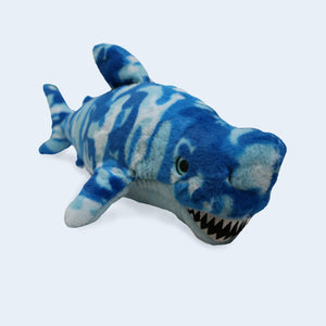 Blue Camo Shark Plush