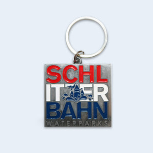 Schlitterbahn Red, White and Blue Key Chain