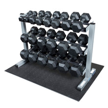 Body-Solid GDR363-RFWS Dumbbell Rack with Rubber Dumbbells