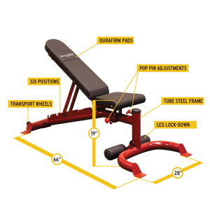 Body Solid Flat/Incline/Decline Bench