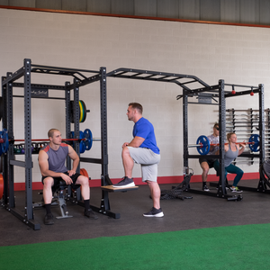 Commercial Double Extended Power Rack Package