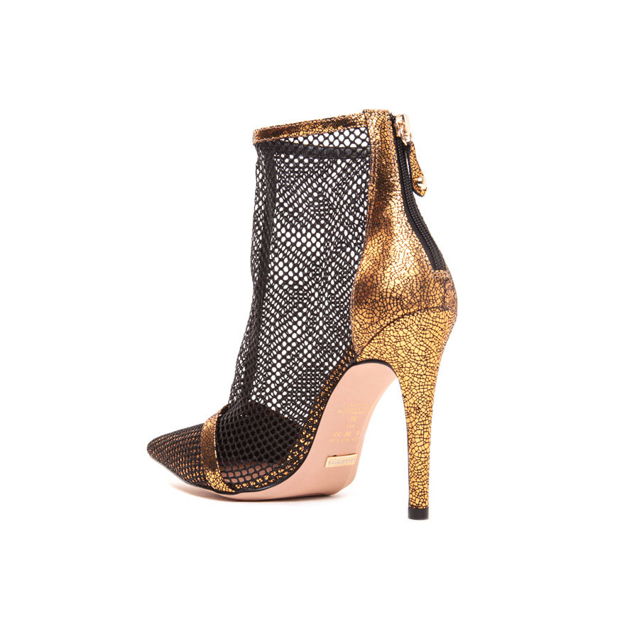 Cecconello Metallic Old Gold Ankle Boot 1500002-2 - [product_category] Cecconello Shoes