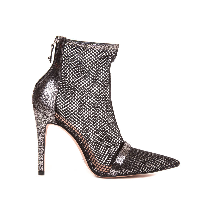 Cecconello Old Silver Metallic Ankle Boot 1500002-3 - [product_category] Cecconello Shoes