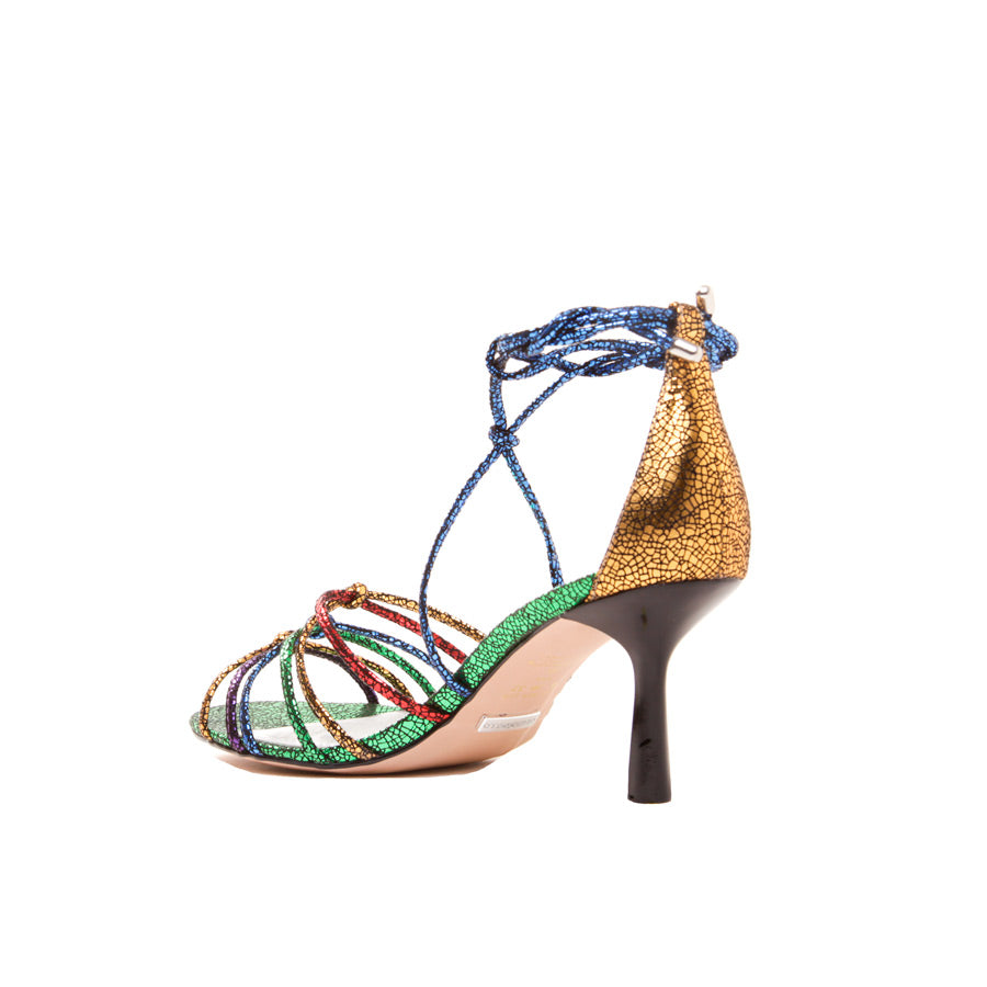 Colored Metallic Sandal 1514003-1 - [product_category] Cecconello Shoes
