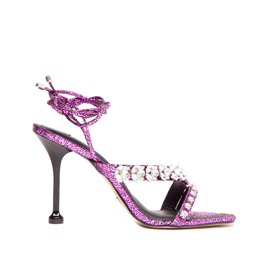 Gabriela Medina Pink Metallic Sandal 1541002-1 - [product_category] Cecconello Shoes