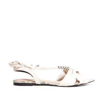 Flat Nozzle Leaf Off White Cecconello 1558002-1 - [product_category] Cecconello Shoes