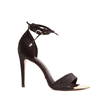Carolina Lindo Black Snake Sandal 1561002-1 - [product_category] Cecconello Shoes