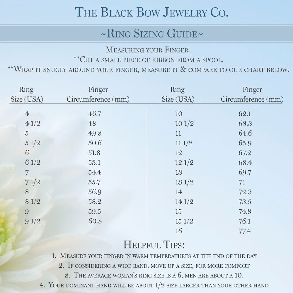 How to Size your Ring by The Black Bow Jewelry Co.