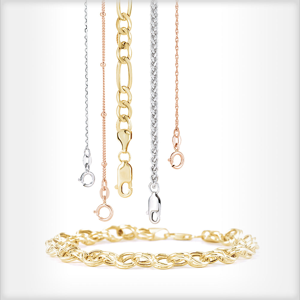Chains in Gold, Silver, Platinum and Steel by The Black Bow Jewelry Company