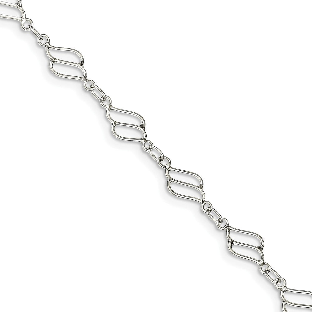Sterling Silver Modern Anklet - The Black Bow Jewelry Co.