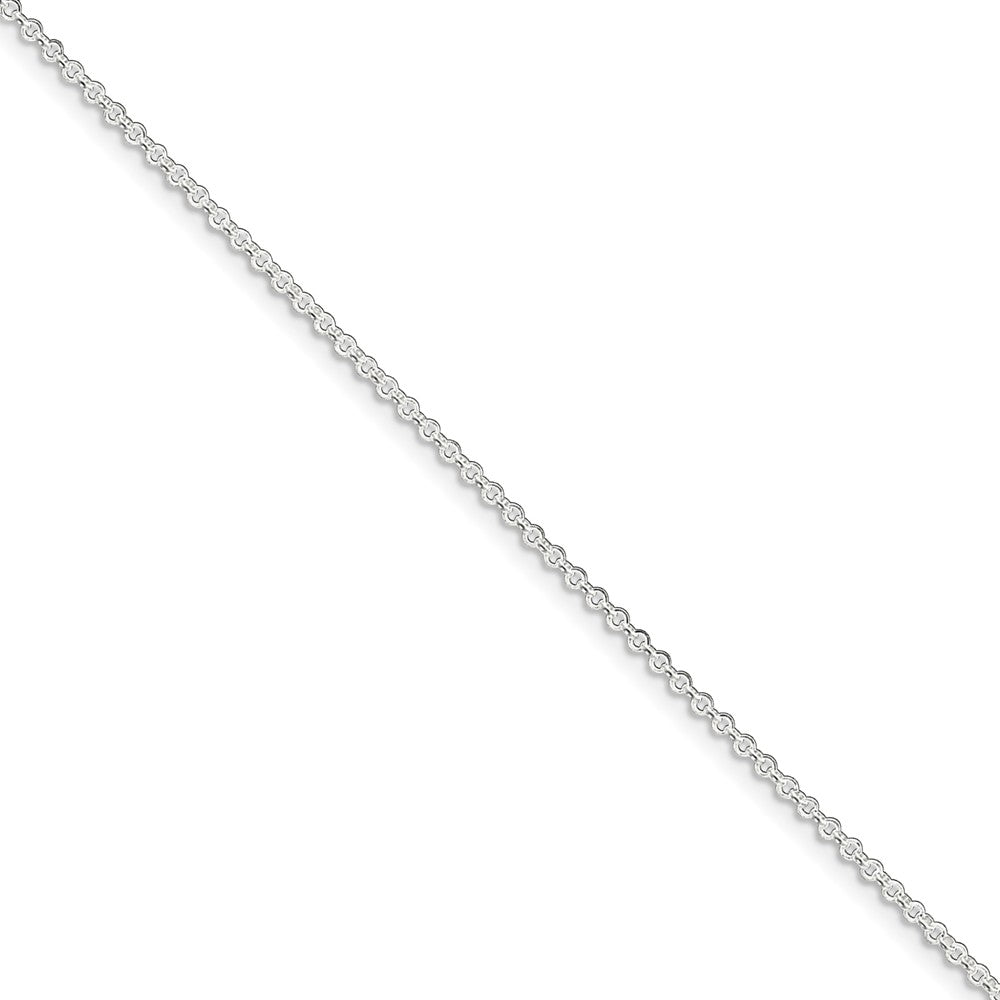 Sterling Silver 1.5mm Rolo Chain Anklet, 9 Inch, Item A8283-09 by The Black Bow Jewelry Co.