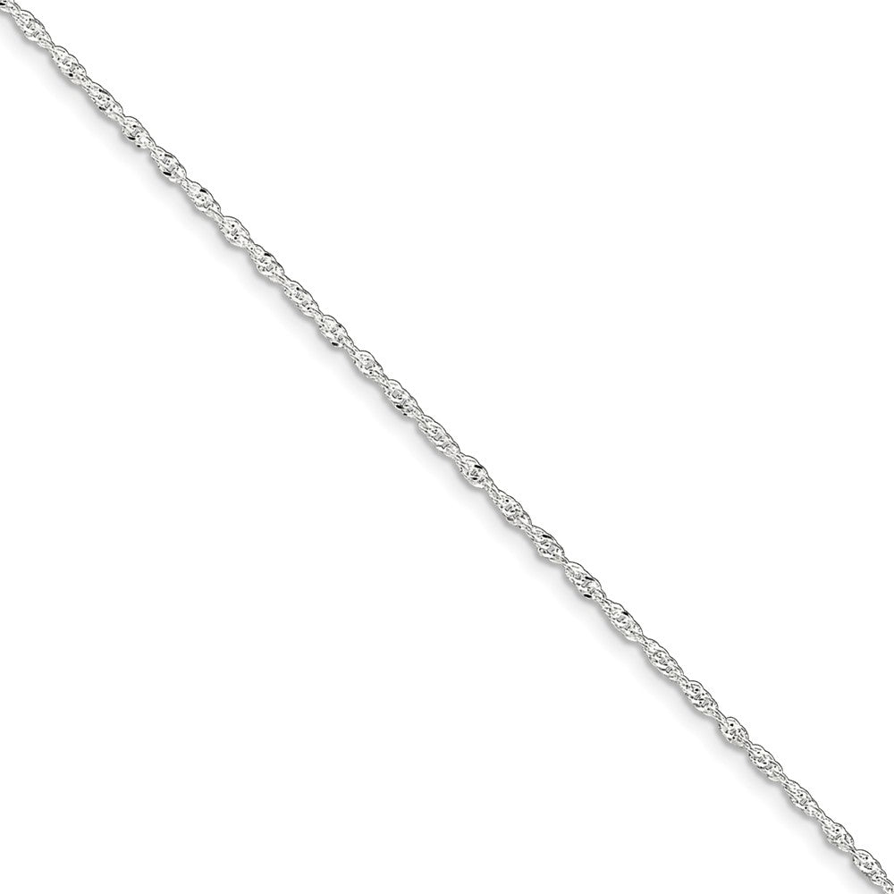 Sterling Silver 1.5mm Adjustable Singapore Anklet, 9-10-Inch, Item A8286-09 by The Black Bow Jewelry Co.