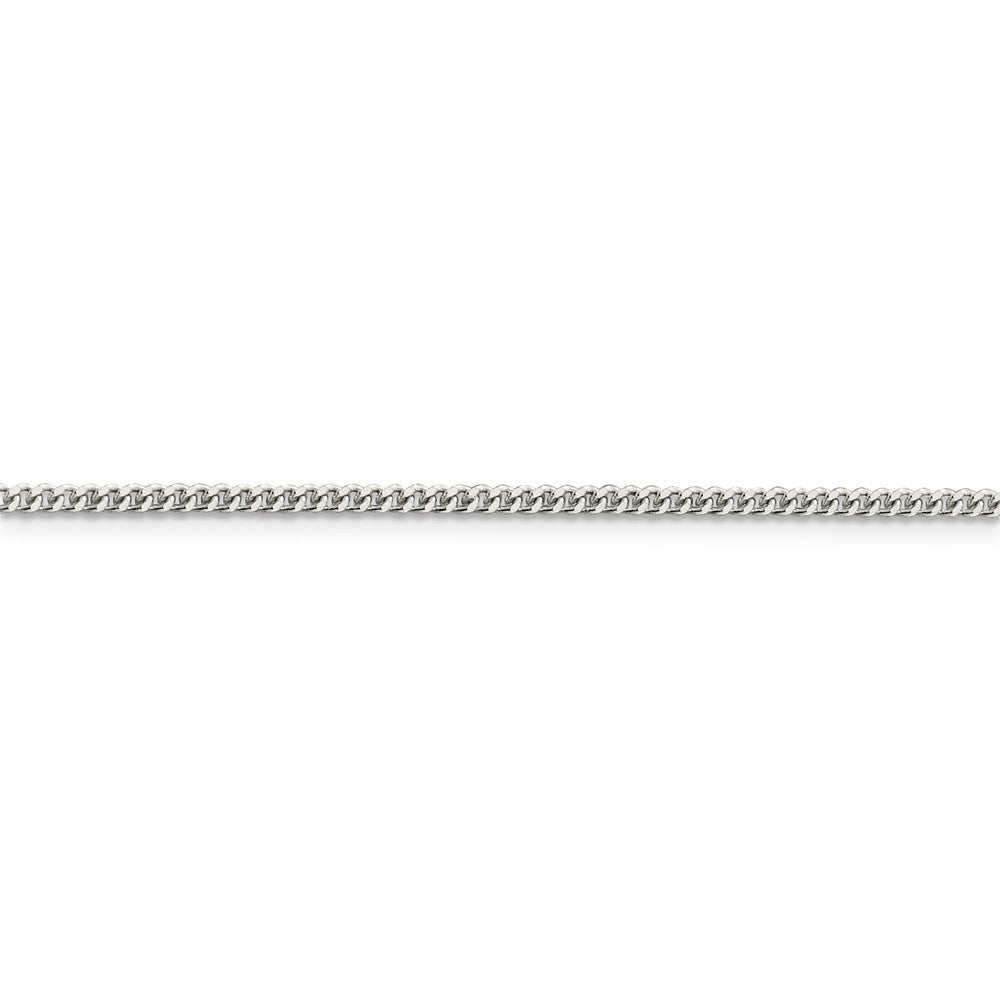 Alternate view of the Sterling Silver 2mm Solid Curb Chain Anklet by The Black Bow Jewelry Co.