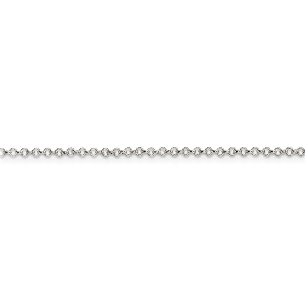 Alternate view of the Sterling Silver 2mm Solid Rolo Chain Anklet by The Black Bow Jewelry Co.