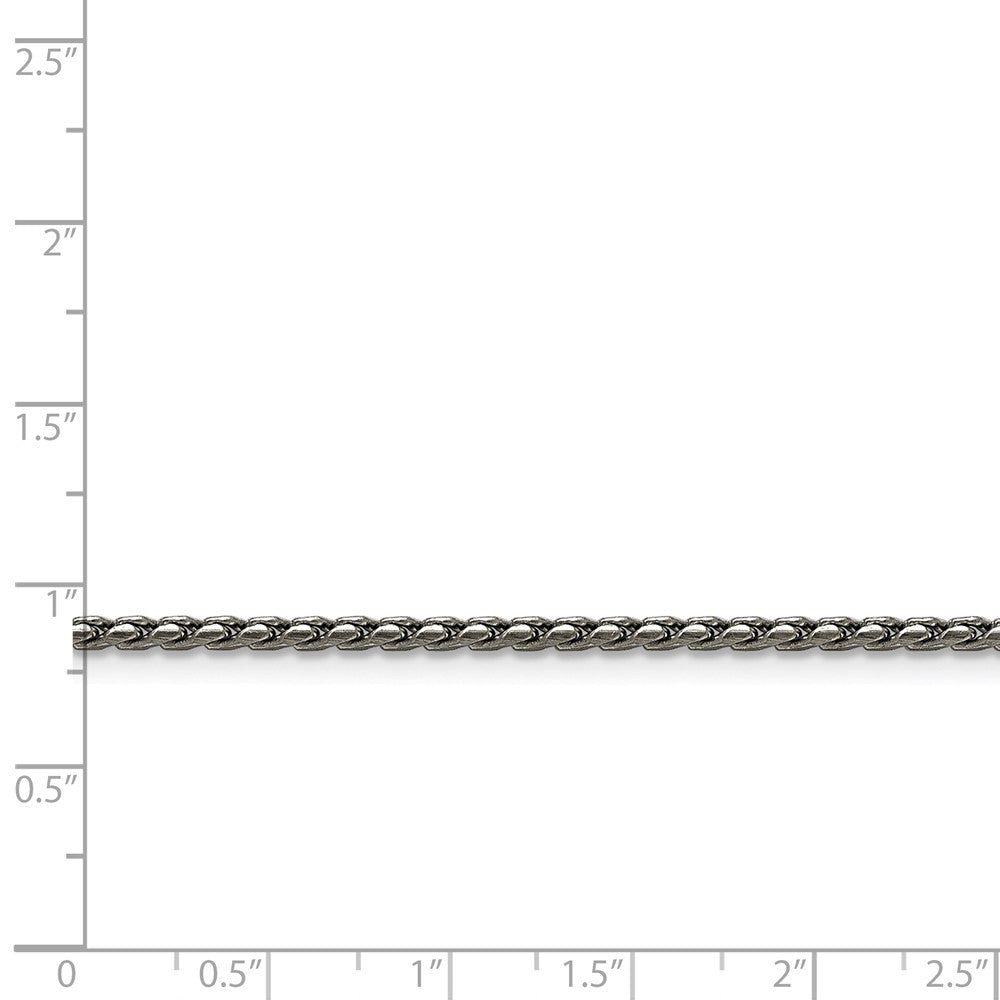Alternate view of the Stainless Steel 2.5mm Spiga Link Chain Anklet, 9.5 Inch by The Black Bow Jewelry Co.