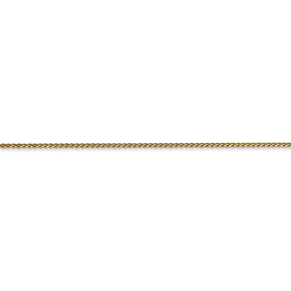 Alternate view of the 14k Yellow Gold 1mm Solid Diamond-Cut Spiga Chain Anklet by The Black Bow Jewelry Co.