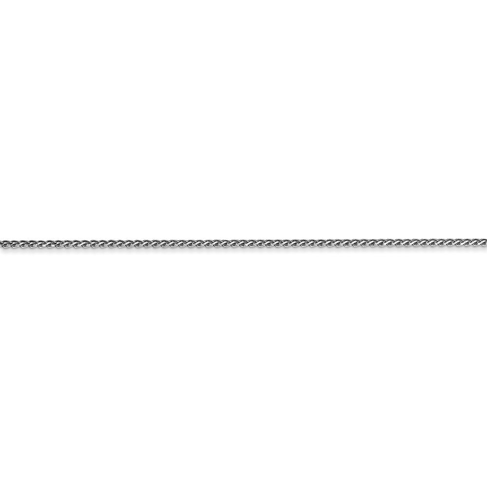 Alternate view of the 14K White Gold 1mm Solid Diamond-Cut Spiga Chain Anklet by The Black Bow Jewelry Co.